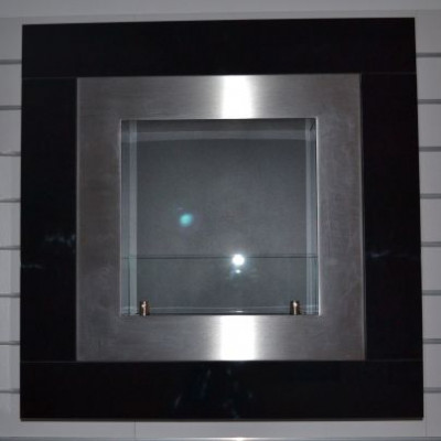 Биокамин Glass Quadro Black